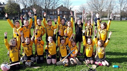 Hands Up! Spring time and Blooming great displays by the Camogie girls!