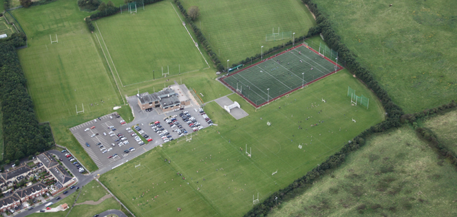 Aerial image of the club